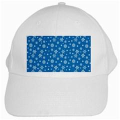 Xmas Pattern White Cap by Valentinaart