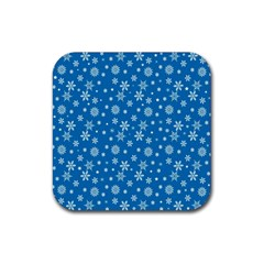 Xmas Pattern Rubber Coaster (square)  by Valentinaart