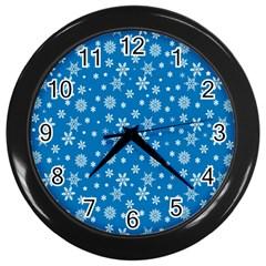 Xmas Pattern Wall Clocks (black) by Valentinaart