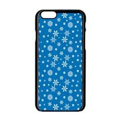 Xmas Pattern Apple Iphone 6/6s Black Enamel Case by Valentinaart