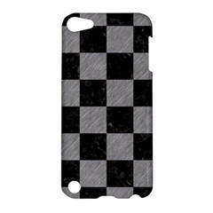 Square1 Black Marble & Gray Colored Pencil Apple Ipod Touch 5 Hardshell Case by trendistuff