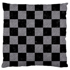 Square1 Black Marble & Gray Colored Pencil Standard Flano Cushion Case (one Side) by trendistuff
