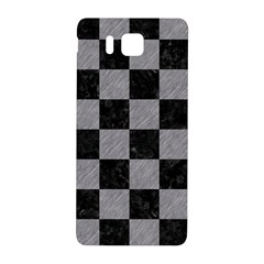 Square1 Black Marble & Gray Colored Pencil Samsung Galaxy Alpha Hardshell Back Case
