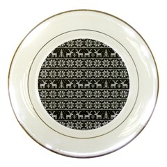 Xmas Pattern Porcelain Plates by Valentinaart