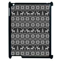 Xmas Pattern Apple Ipad 2 Case (black) by Valentinaart