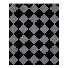 Square2 Black Marble & Gray Colored Pencil Shower Curtain 60  X 72  (medium)  by trendistuff