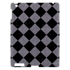 Square2 Black Marble & Gray Colored Pencil Apple Ipad 3/4 Hardshell Case by trendistuff