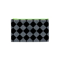 Square2 Black Marble & Gray Colored Pencil Cosmetic Bag (xs) by trendistuff