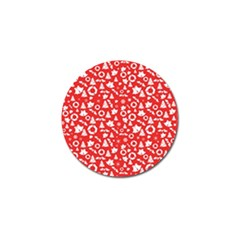Xmas Pattern Golf Ball Marker (10 Pack) by Valentinaart