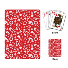 Xmas Pattern Playing Card by Valentinaart
