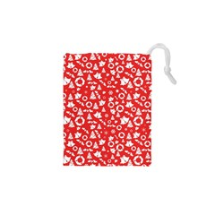 Xmas Pattern Drawstring Pouches (xs)  by Valentinaart