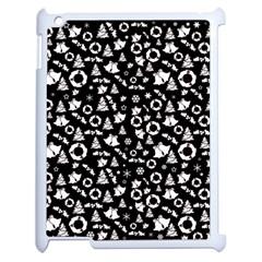 Xmas Pattern Apple Ipad 2 Case (white) by Valentinaart