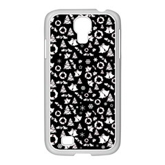 Xmas Pattern Samsung Galaxy S4 I9500/ I9505 Case (white) by Valentinaart