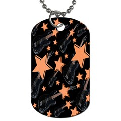 Guitar Star Rain Dog Tag (two Sides) by SpaceyQT