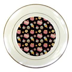 Sweet Pattern Porcelain Plates by Valentinaart