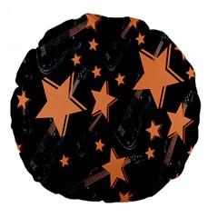 Guitar Star Rain Large 18  Premium Flano Round Cushions by SpaceyQT