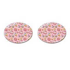 Sweet Pattern Cufflinks (oval) by Valentinaart
