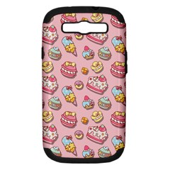 Sweet Pattern Samsung Galaxy S Iii Hardshell Case (pc+silicone) by Valentinaart