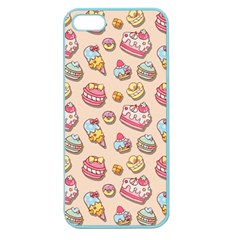 Sweet Pattern Apple Seamless Iphone 5 Case (color) by Valentinaart