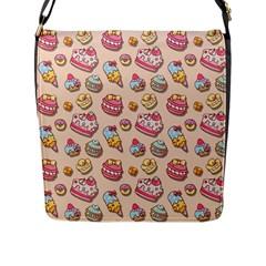 Sweet Pattern Flap Messenger Bag (l)  by Valentinaart