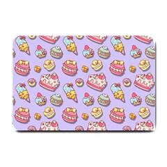 Sweet Pattern Small Doormat  by Valentinaart