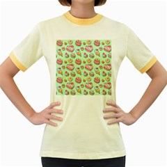 Sweet Pattern Women s Fitted Ringer T Shirts by Valentinaart