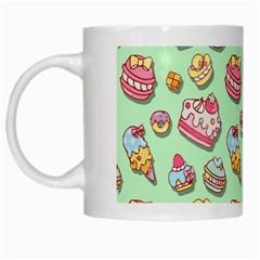 Sweet Pattern White Mugs by Valentinaart