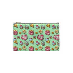 Sweet Pattern Cosmetic Bag (small)  by Valentinaart