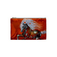 Steampunk, Wonderful Wild Steampunk Horse Cosmetic Bag (small)  by FantasyWorld7