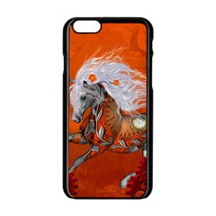 Steampunk, Wonderful Wild Steampunk Horse Apple Iphone 6/6s Black Enamel Case by FantasyWorld7