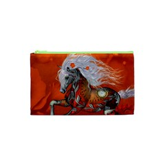 Steampunk, Wonderful Wild Steampunk Horse Cosmetic Bag (xs) by FantasyWorld7
