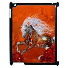 Steampunk, Wonderful Wild Steampunk Horse Apple Ipad 2 Case (black) by FantasyWorld7