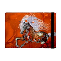 Steampunk, Wonderful Wild Steampunk Horse Apple Ipad Mini Flip Case