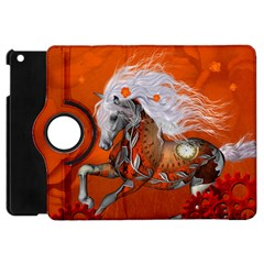 Steampunk, Wonderful Wild Steampunk Horse Apple Ipad Mini Flip 360 Case by FantasyWorld7