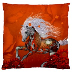 Steampunk, Wonderful Wild Steampunk Horse Standard Flano Cushion Case (two Sides) by FantasyWorld7