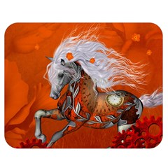 Steampunk, Wonderful Wild Steampunk Horse Double Sided Flano Blanket (medium)  by FantasyWorld7