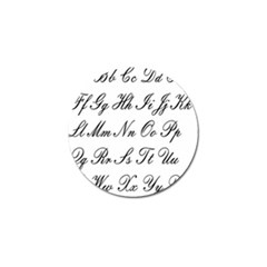 Alphabet Embassy Font Golf Ball Marker by Mariart