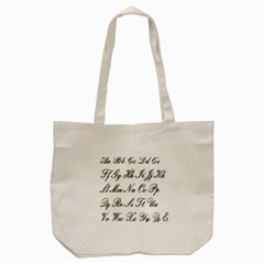 Alphabet Embassy Font Tote Bag (cream) by Mariart