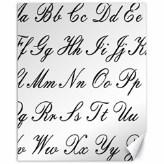 Alphabet Embassy Font Canvas 16  X 20   by Mariart