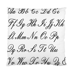 Alphabet Embassy Font Standard Cushion Case (two Sides) by Mariart