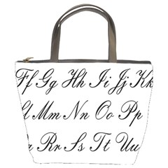 Alphabet Embassy Font Bucket Bags by Mariart