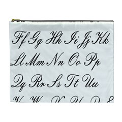 Alphabet Embassy Font Cosmetic Bag (xl) by Mariart