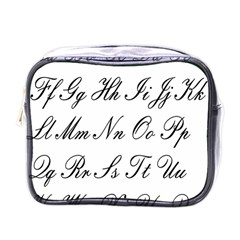Alphabet Embassy Font Mini Toiletries Bags by Mariart