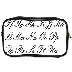 Alphabet Embassy Font Toiletries Bags by Mariart