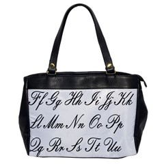 Alphabet Embassy Font Office Handbags by Mariart