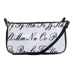 Alphabet Embassy Font Shoulder Clutch Bags by Mariart