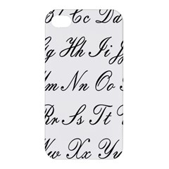 Alphabet Embassy Font Apple Iphone 4/4s Hardshell Case by Mariart