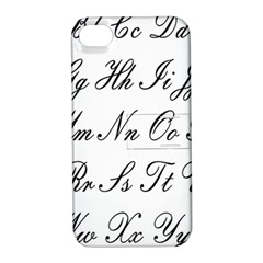 Alphabet Embassy Font Apple Iphone 4/4s Hardshell Case With Stand by Mariart