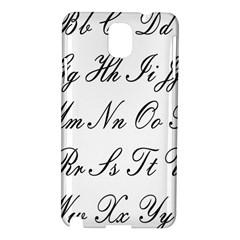 Alphabet Embassy Font Samsung Galaxy Note 3 N9005 Hardshell Case