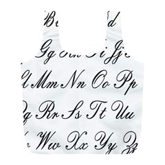 Alphabet Embassy Font Full Print Recycle Bags (l)  by Mariart